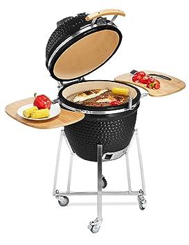 """Kamado 21 """"cerámica barbacoa fumador eléctrica de carbón de cartucho para cocinar en el"""