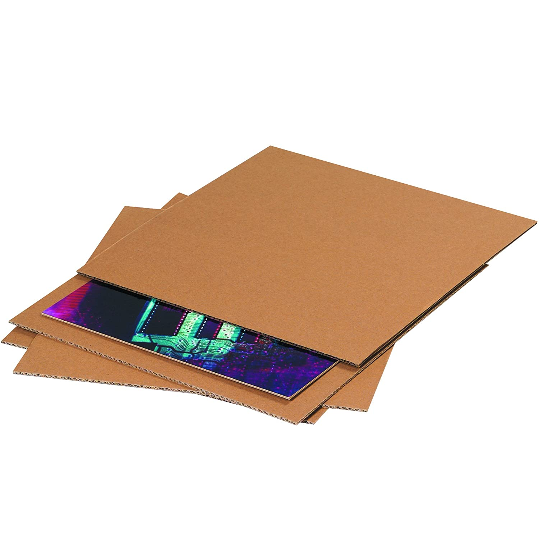 13 7//8 x 13 7//8 Kraft Tape Logic TLSP13 Corrugated Layer Pads Pack of 100