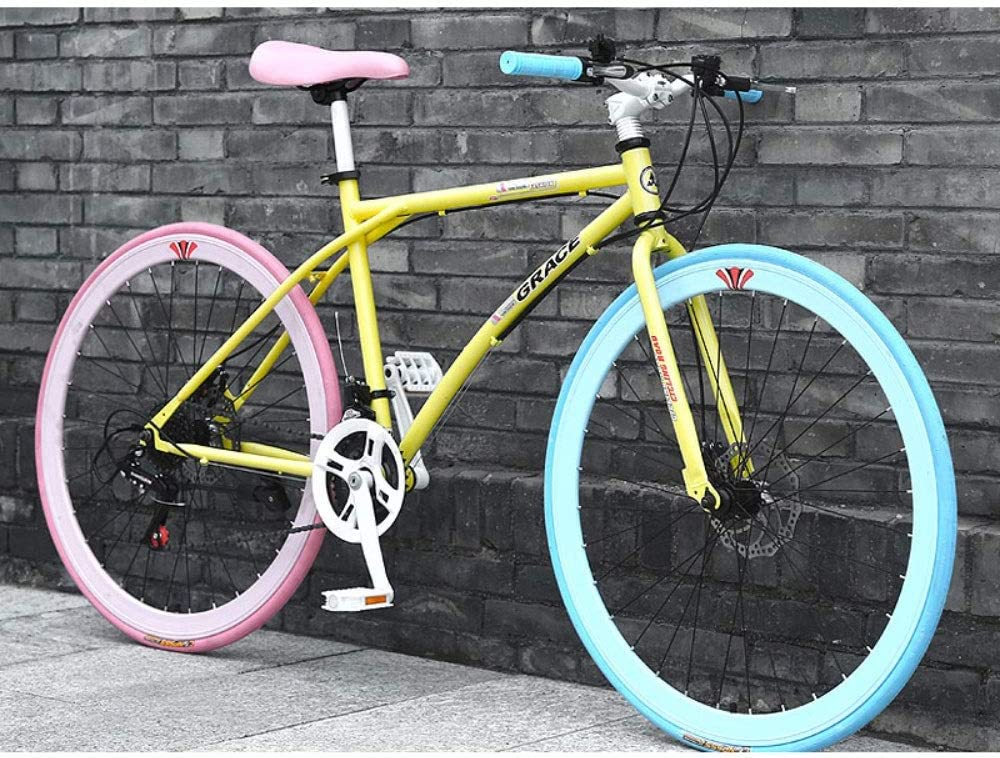 26 pulgadas de suspensión de 24 velocidades bicicletas de montaña for adultos completa Frenos MTB □□ engranajes de doble disco de bicicletas de montaña for el adulto al aire libre Estudiante Deporte B