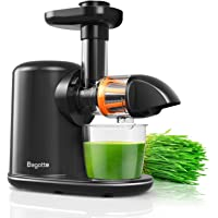Machine Juice Extractor, Bagotte Cold Press Juicer Electric Slow Masticating Vegetable and Fruit Juice Maker, BPA Free Juicer Machines with Juice Recipes, Reverse Function for Home, Restaurant, Office