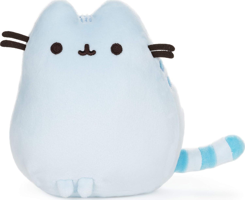 GUND Pusheen Squisheen Pet Pose Plush Stuffed Animal Cat, Blue, 6