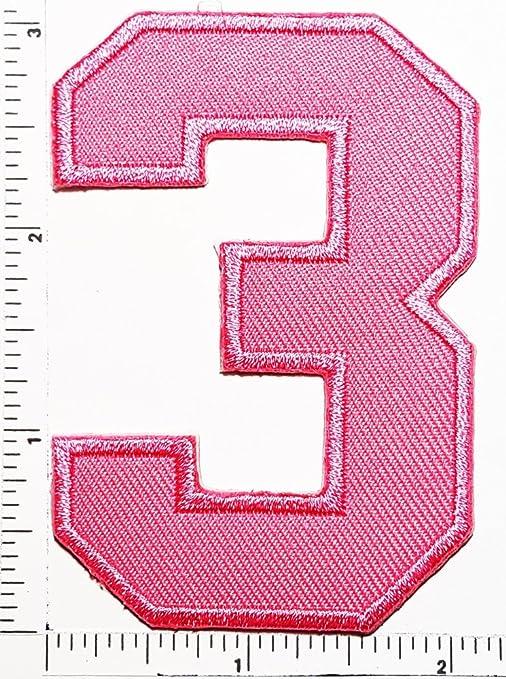 Rosa número 3, Número Tres Counting Logo carta escuela símbolo ...