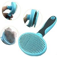 Hesiry Cat Brush Dog Soft Brush for Shedding Removes Loose Long or Short Hairs,Slicker Brush for Dog Massage-Self…