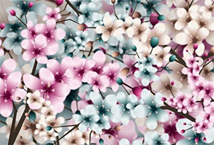Csfoto 6x4ft Background For Dreamy Cherry Blossoms Sakura Photography Backdrop Romantic Wedding Party Decor Beautiful Nature Blooming Flower Spring