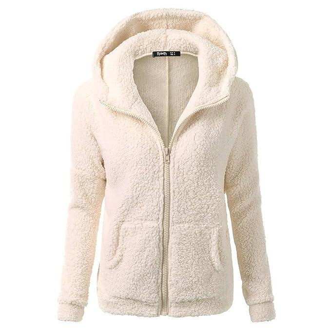 Desshok Felpe con Cappuccio Donna Hooded Maglione Cappotto Zip Giacca con  Tasche Autunno Blazer Cardigan Outwear  Amazon.it  Abbigliamento 782a39a08ba