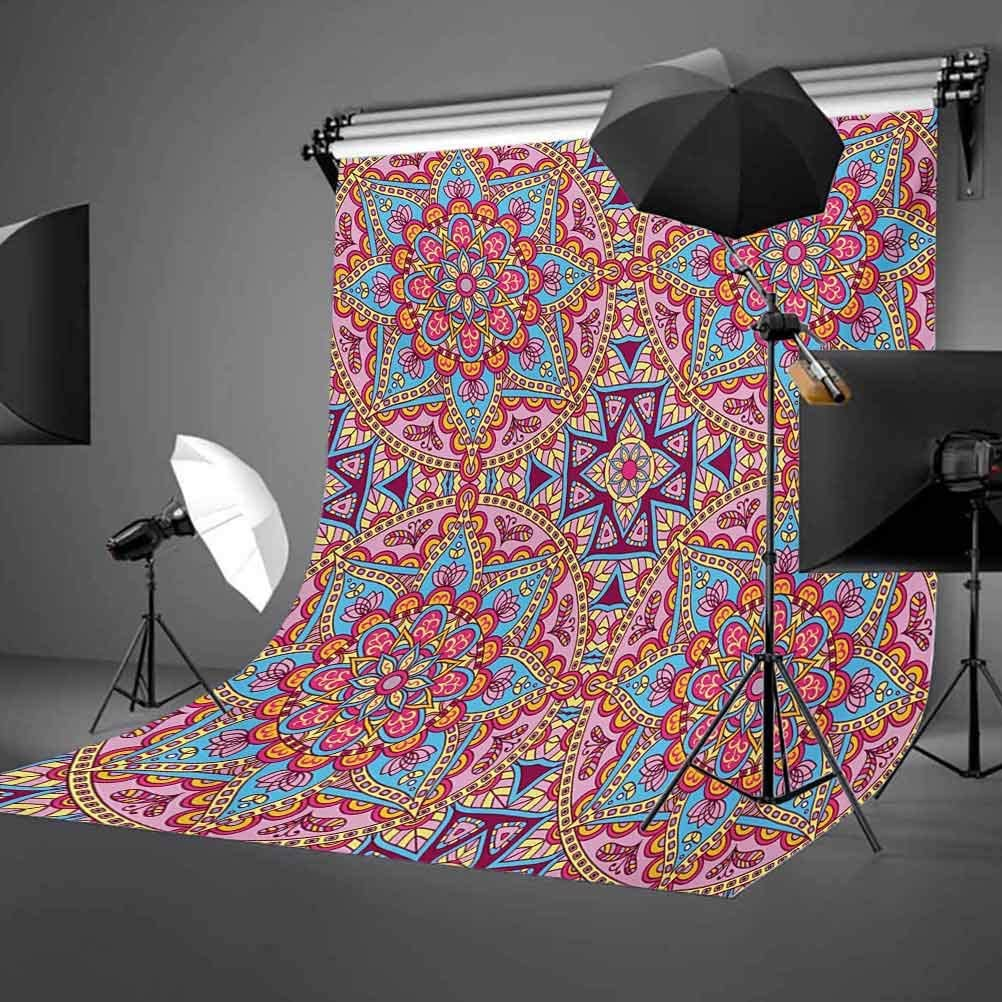 Arabesque Hippie Style Authentic in Moroccan Vivid Tones Artsy Motif Background for Baby Shower Birthday Wedding Bridal Shower Party Decoration Photo Studio Purple 10x15 FT Photography Backdrop