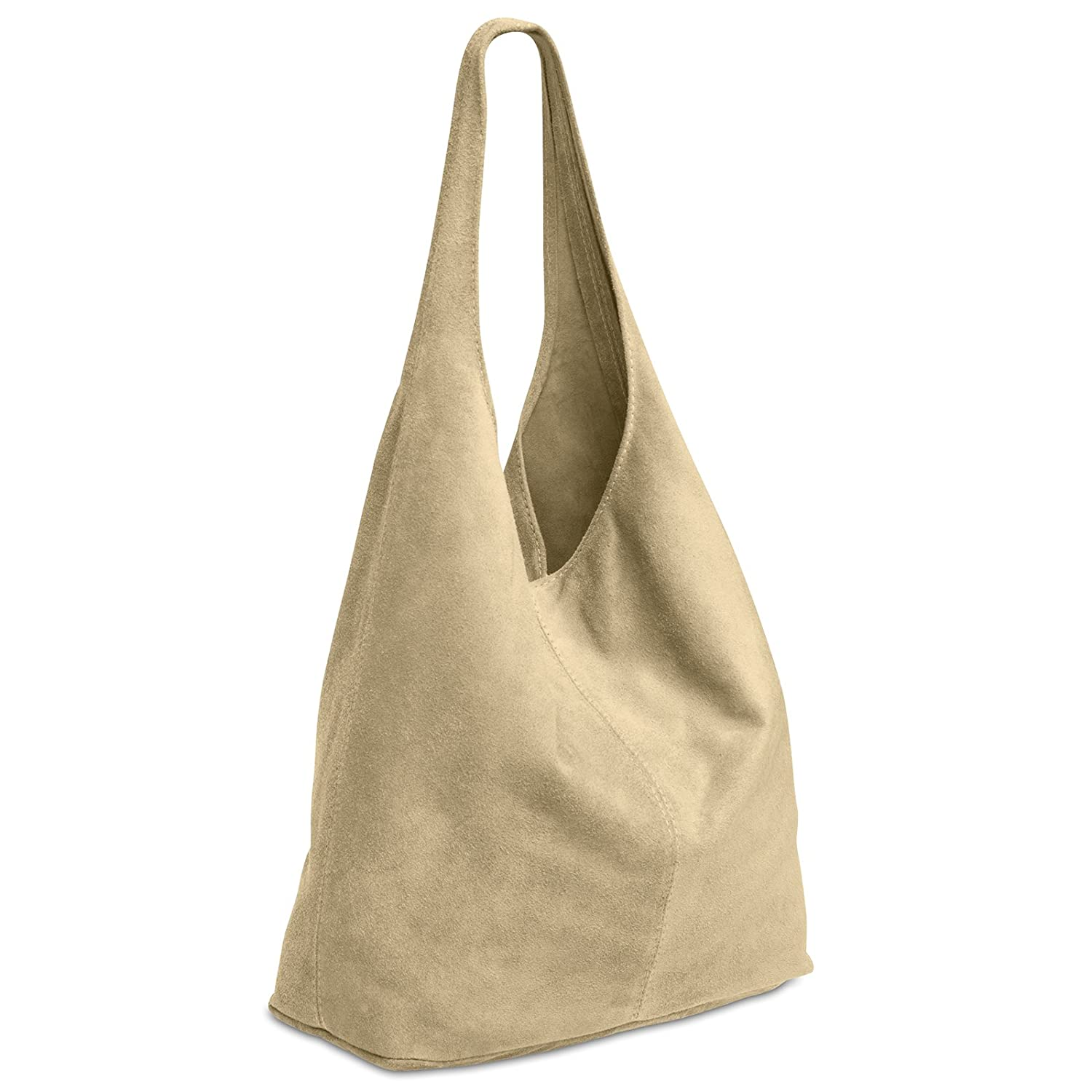f6baf420fa CASPAR TL767 large Women Suede Leather Shopper