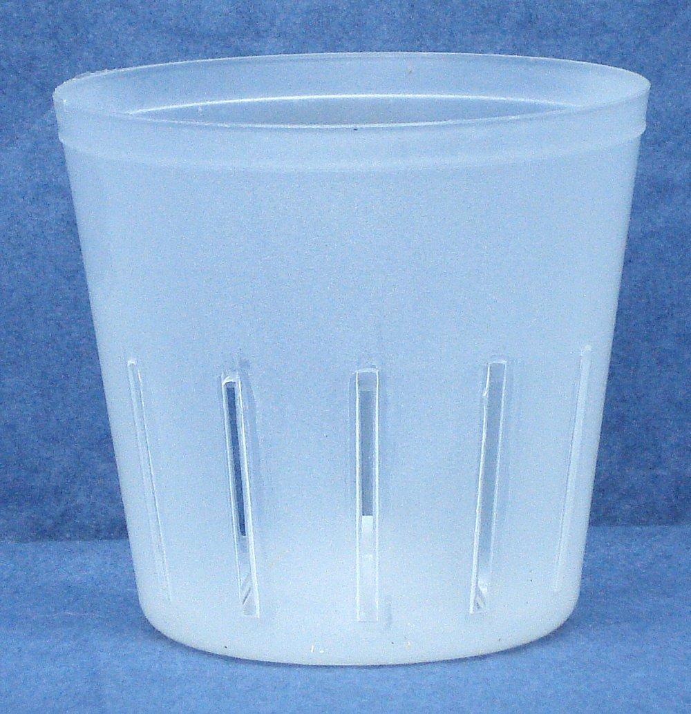 coMarket Clear Plastic Pot for Orchids 3 inch Diameter – Quantity 1