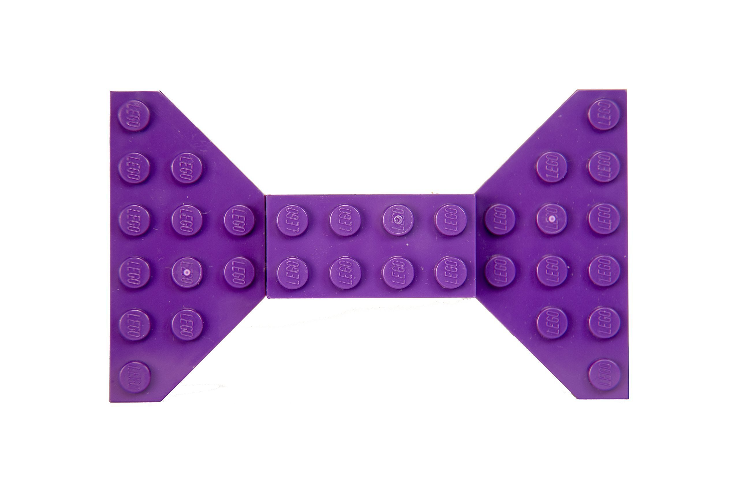Purple Lego Bow Tie Brooch/Hair Clip