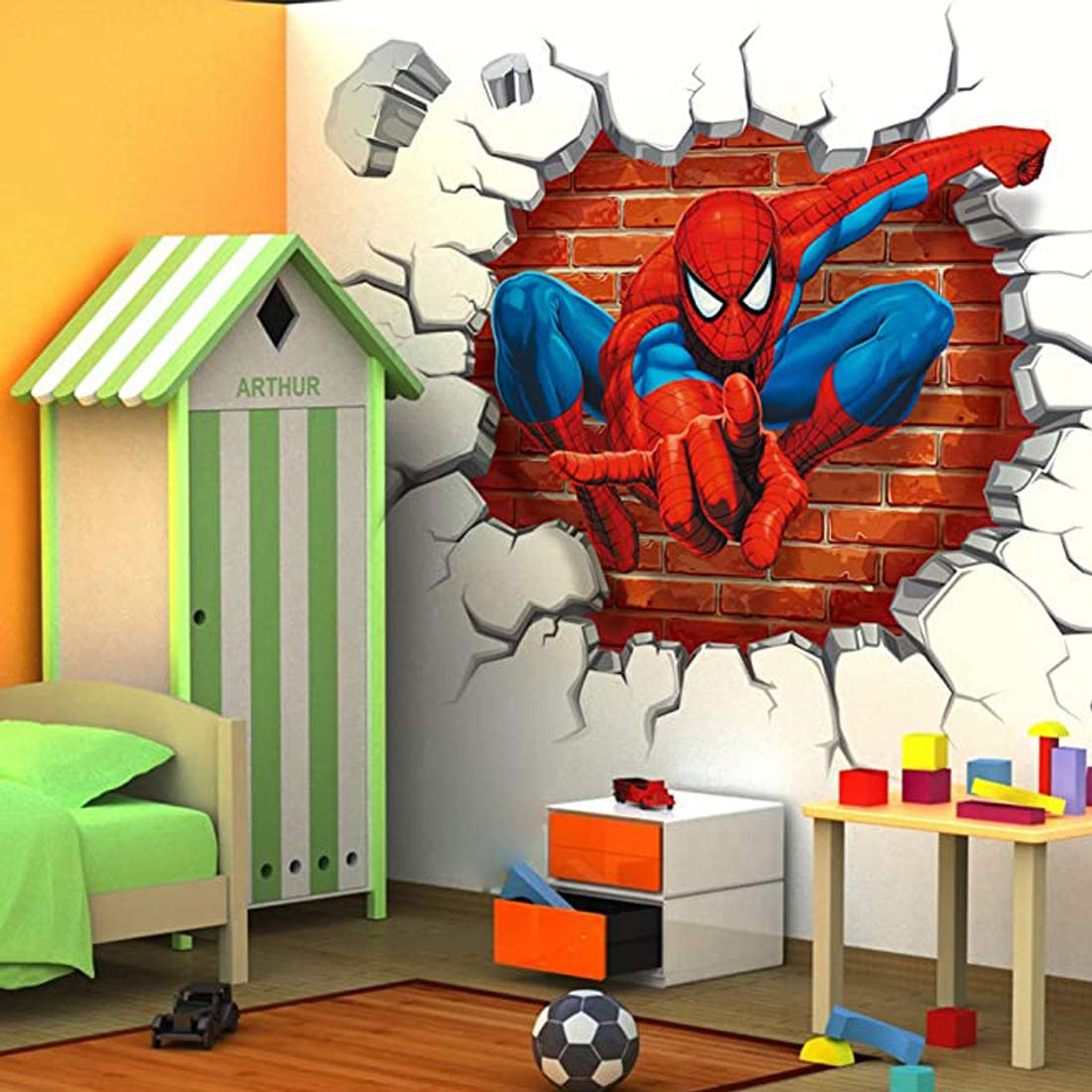 Buy Wallgenics 3d Cartoon Spiderman Wall Poster Wallpaper Wall Sticker Home Decor Stickers For Bedrooms Living Room Hall Kids Room Play Room Online At Low Prices In India Amazon In