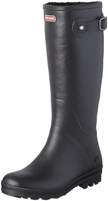 Viking Foxy Schwarz, Damen Gummistiefel, Größe EU 36 - Farbe Black Damen Gummistiefel, Black, Größe 36 - Schwarz