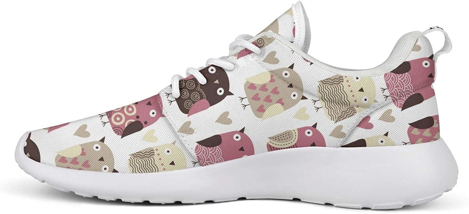 Unicorns Farting Big Winking Owl White Womens Lightweight Shoes Foam Breathable Jogging Shoes Athletic Sneaker