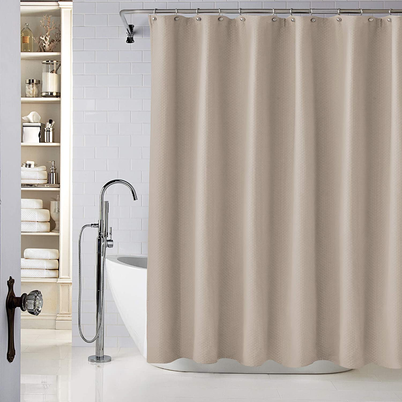 Lamont Home Diamond Matelasse Stall Shower Curtain, Taupe