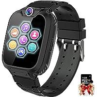 Smartwatch voor kinderen, 7 spelletjes, smartwatch met mp3-muziek, touchscreen, smart phone horloge met camera, wekker…