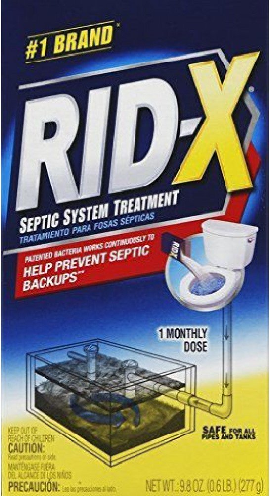 Rid-X Professional Septic System Treatment 9.8 oz (4 Pack) by Pharmapacks (Image #1)