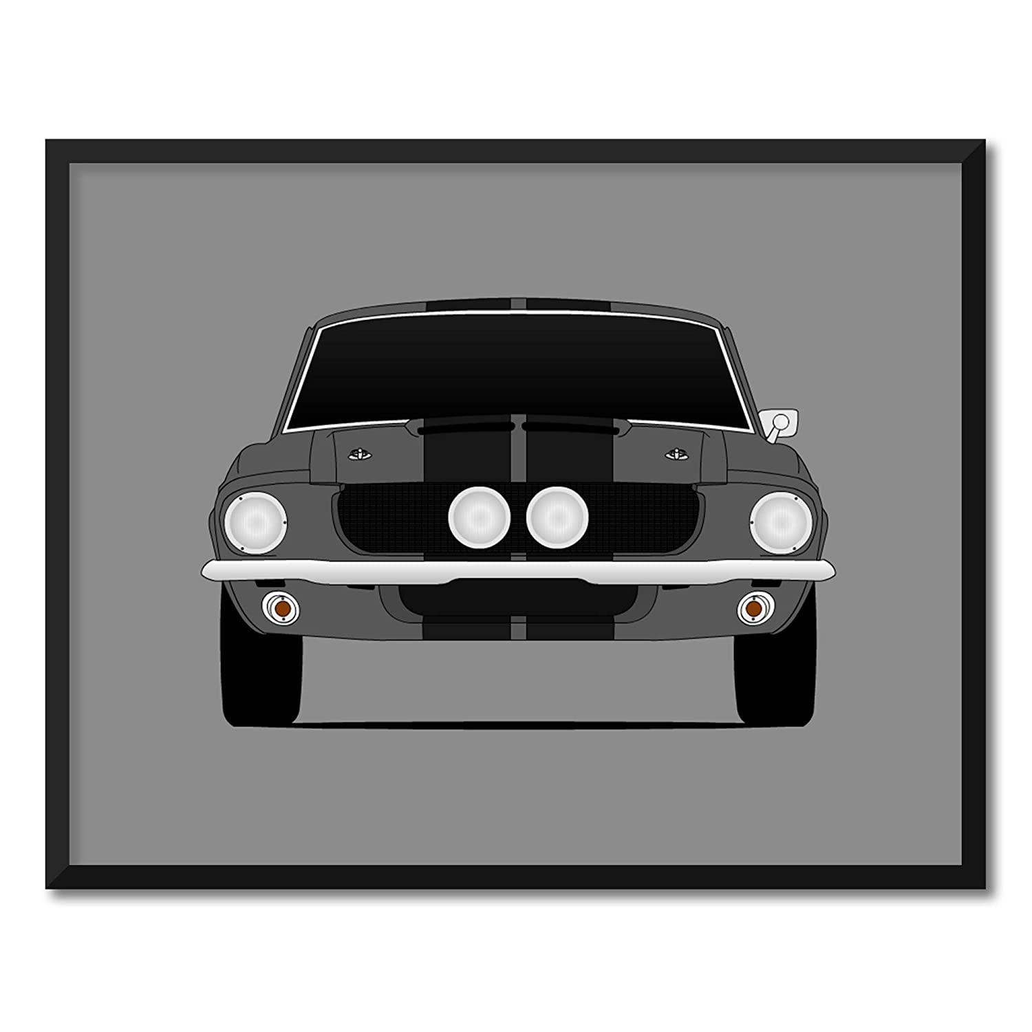 Get your favorite muscle car illustration poster. The best gift for car enthusiast 1967 Shelby Cobra 427 SC Roadster matte poster