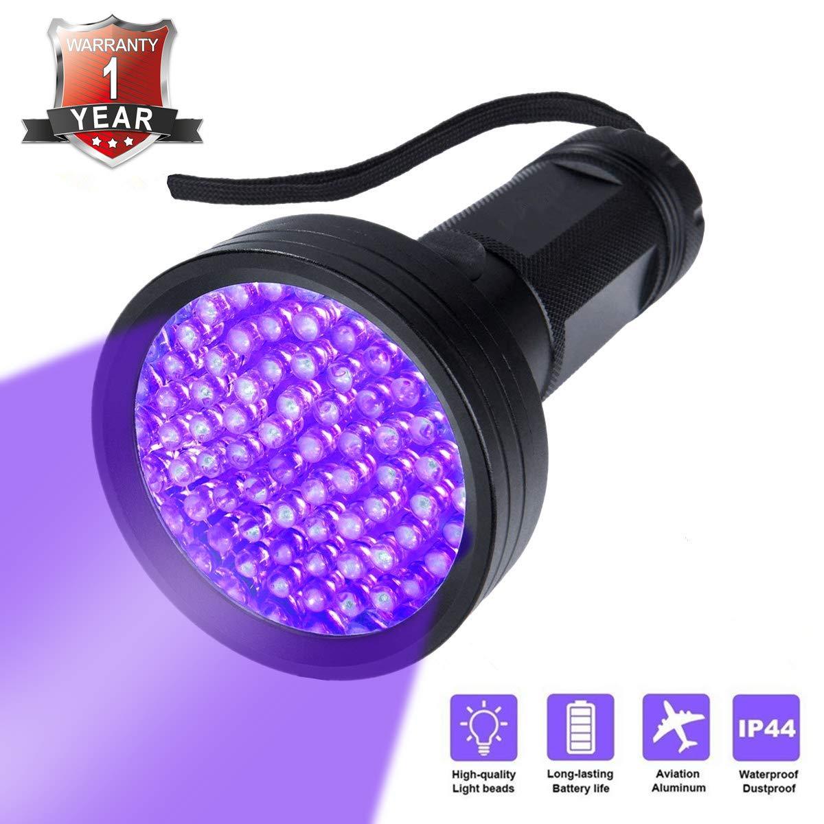 UV Flashlight Black light Firstbuy Super Bright 68 LED Best Powerful Black Light Flashlight 395NM Ultraviolet Urine Detector Flashlight for Home & Hotel Inspection (68 LED Black Light)