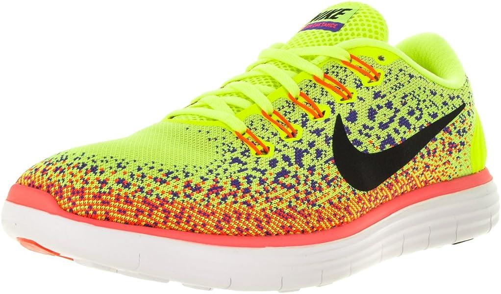 | Nike Mens Free Rn Distance VoltBlackPrsn Vlt