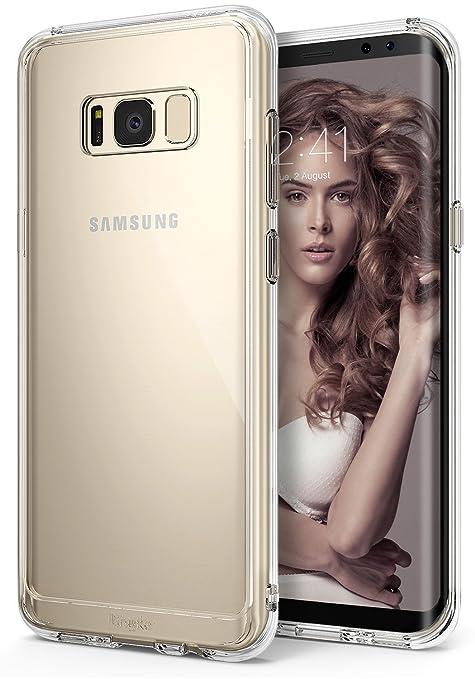 11 opinioni per Custodia Galaxy S8 Plus, Ringke [FUSION] Crystal Clear PC Back TPU [goccia