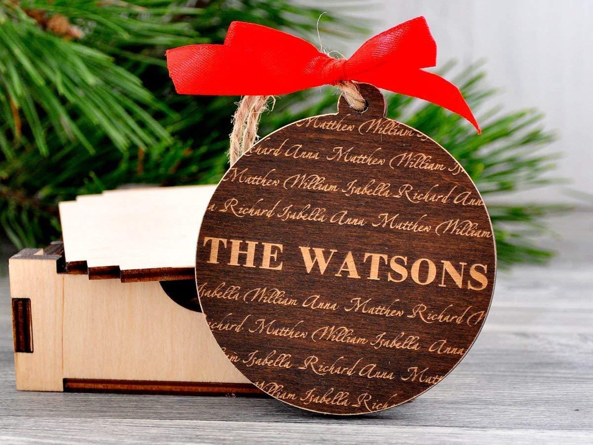 Custom Christmas Ornaments.Amazon Com Christmas Ornament Personalized Family Name