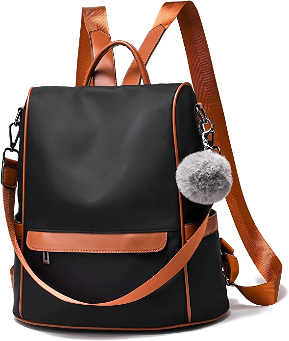 Casual Backpack Nylon Shoulder Bag Multifunctional Fitness Bag Travel Pouch Handbag Elephant Pattern Outdoor Waterproof Large Capacity for Women