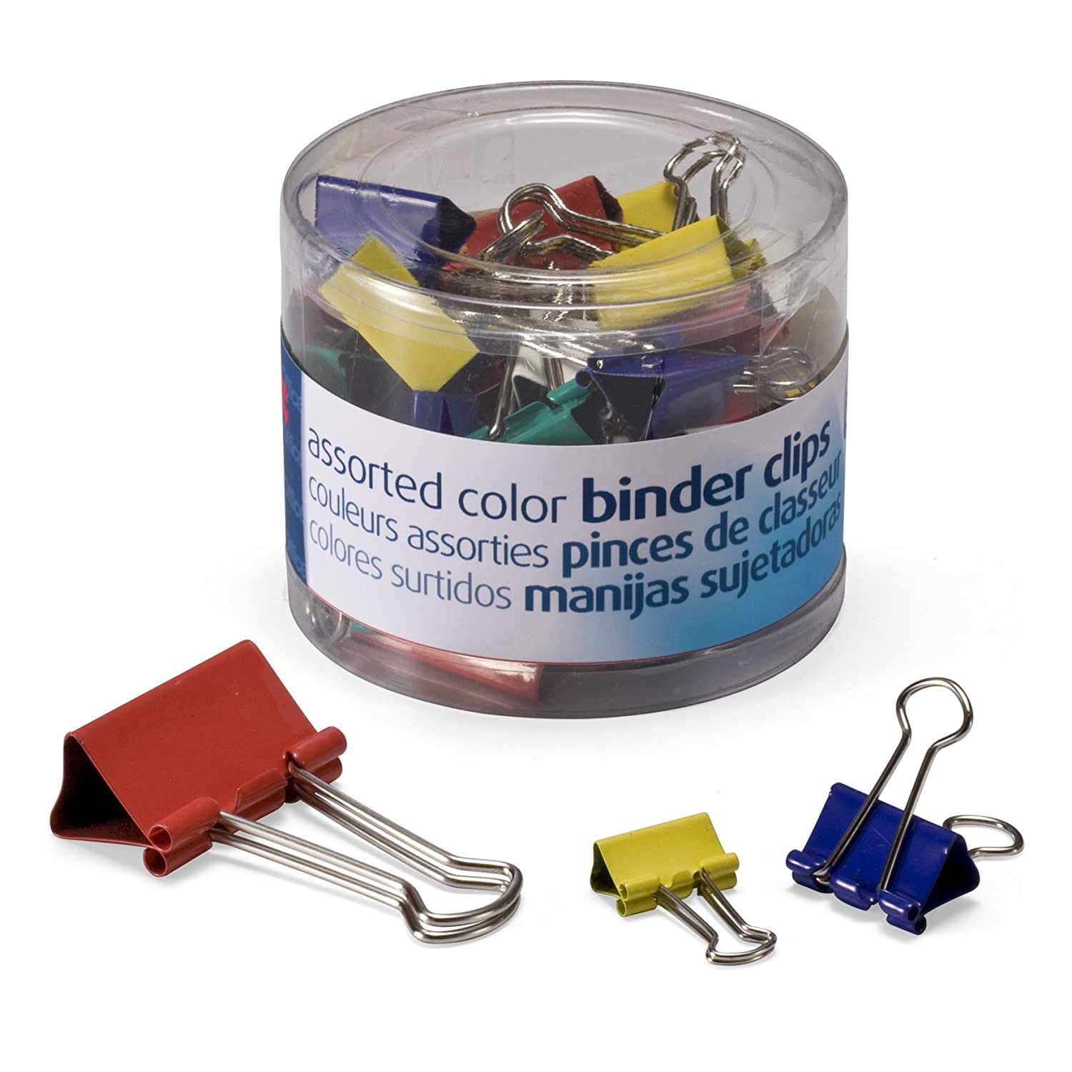 Amazon.com : OfficemateOIC Micro Binder Clips, Assorted Colors, 100 Clips per Tub (31023) : Mini Binder Clips : Office Products