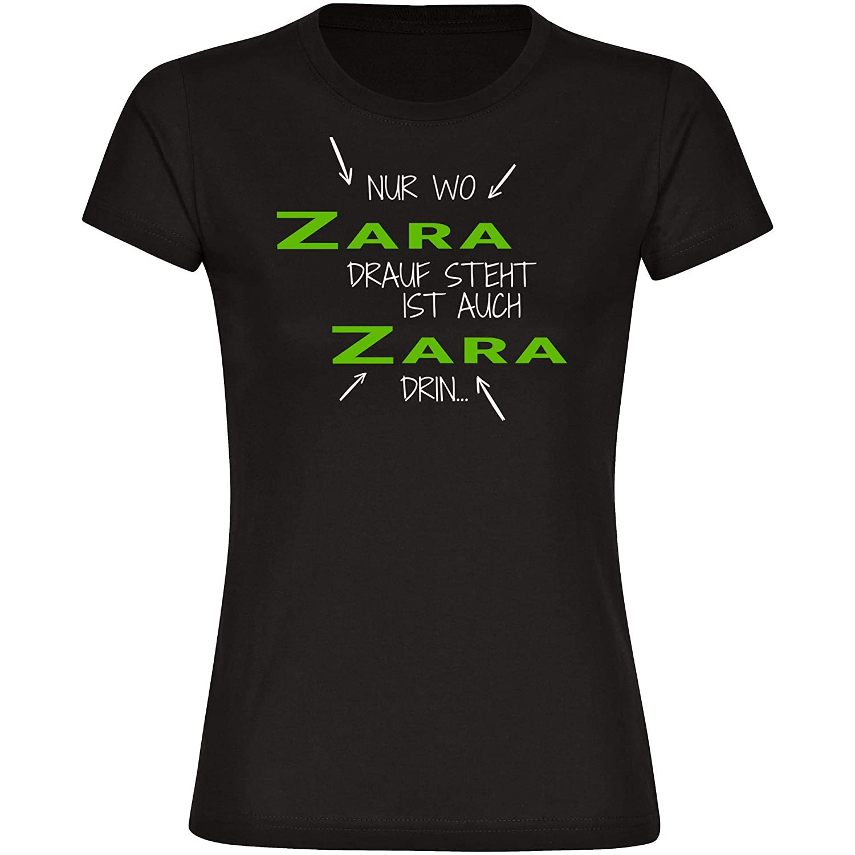 T-Shirt cuello redondo manga corta sólo donde Zara dice también es Zara dentro para mujer tallas de la S a 2XL: Amazon.es: Deportes y aire libre