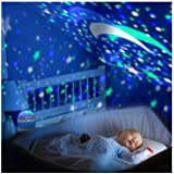 StillCool Baby Night Light Star Projector 360 Degree Rotation - 4 LED Bulbs Lamp 5 Light Color Changing With USB Cable (Blue), Unique Gifts for Men Women Kids Best Baby Gift, Christmas Gift