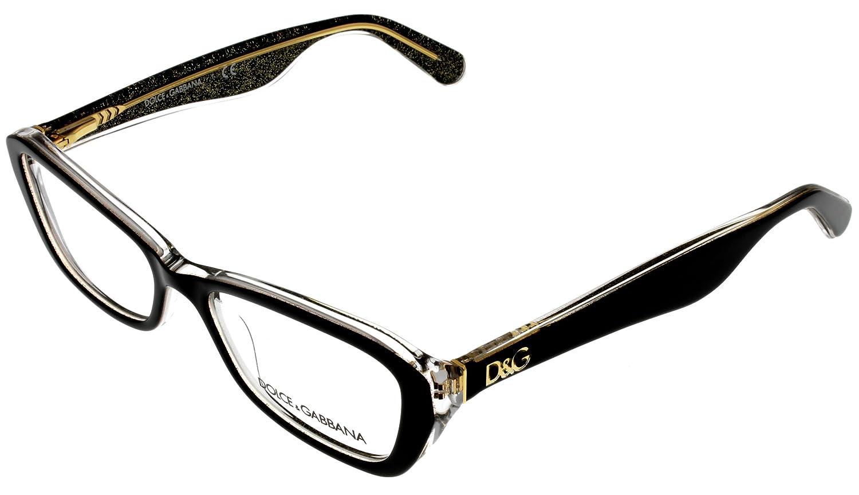 ad7a100bcd2 Amazon.com  Dolce   Gabbana Prescription Eyeglasses Frame Women DG 3168  2737 Rectangular  Clothing