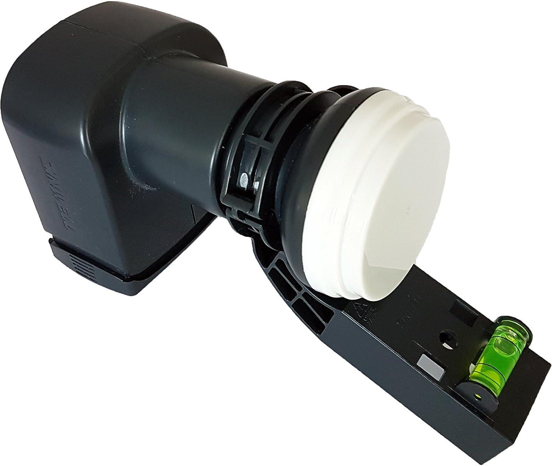 Octo LNB 8 Puertos/Manera con Nivel de Burbuja – MK4 Antena parabólica y Receptor de señal – para Sky HD/Freesat Salida – Hotbird, Polsat, Zona 2, ...