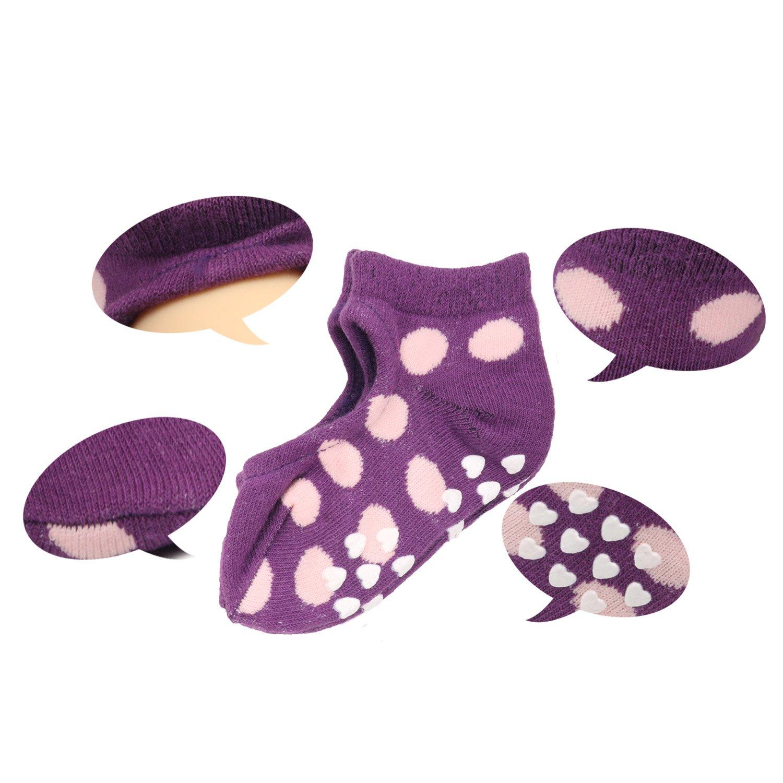 6 Pack Coodebear Baby Girls Children Anti-Skid Floor Thin Ship Cotton Socks