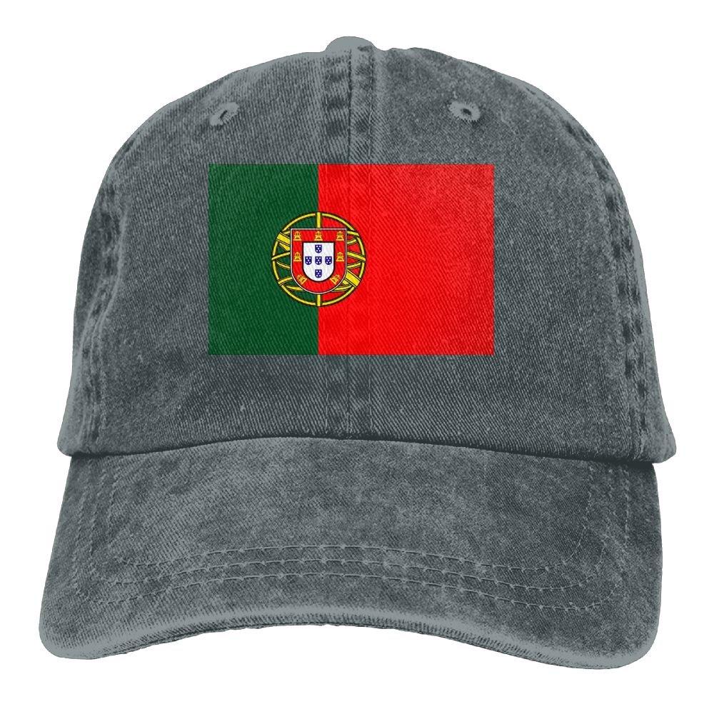 Welonzd 2018 Portuguese Flag Denim Hat Baseball Caps Adjustable Plain Cap