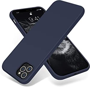 OTOFLY Compatible with iPhone 12 Pro Max Case 6.7 inch(2020),[Silky and Soft Touch Series] Premium Soft Liquid Silicone Rubber Full-Body Protective Bumper Case for iPhone 12 Pro Max (Midnight Blue)
