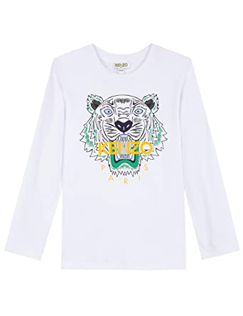 b708485fdc54 Kenzo Kids Baby Boy s Tiger T-Shirt (Toddler Little Kids) Optical White