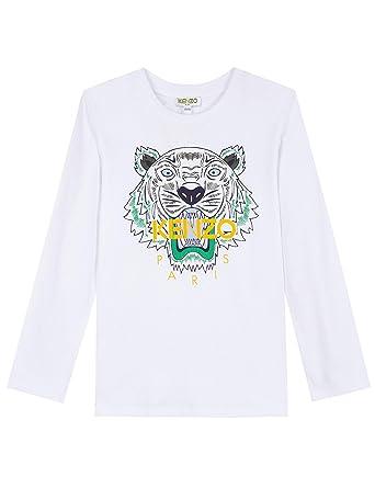 a8f02263 Kenzo Kids Baby Boy's Tiger T-Shirt (Toddler/Little Kids) Optical White