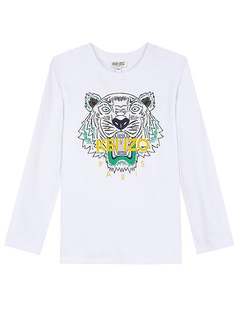 fb60a0f9a Kenzo Boys Tiger JB 2 Tee OPTICAL WHITE 8: Amazon.co.uk: Clothing