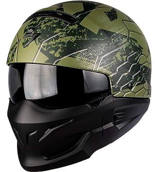 Scorpion Casco Moto exo-combat ratnik, Matt Green, XXL