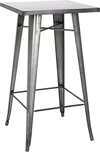 MILAN Isadora Steel Bar Table, Gun Metal