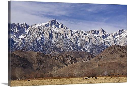 Mt. Whitney Range I Canvas Wall Art Print