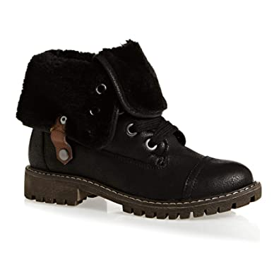 1e0a482657a599 Amazon.com | Roxy Bruna J Boots 6 B(M) US Women Black | Fashion Sneakers