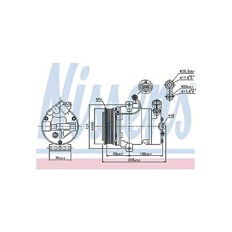 Nissens 89024 Compresor, Aire Acondicionado