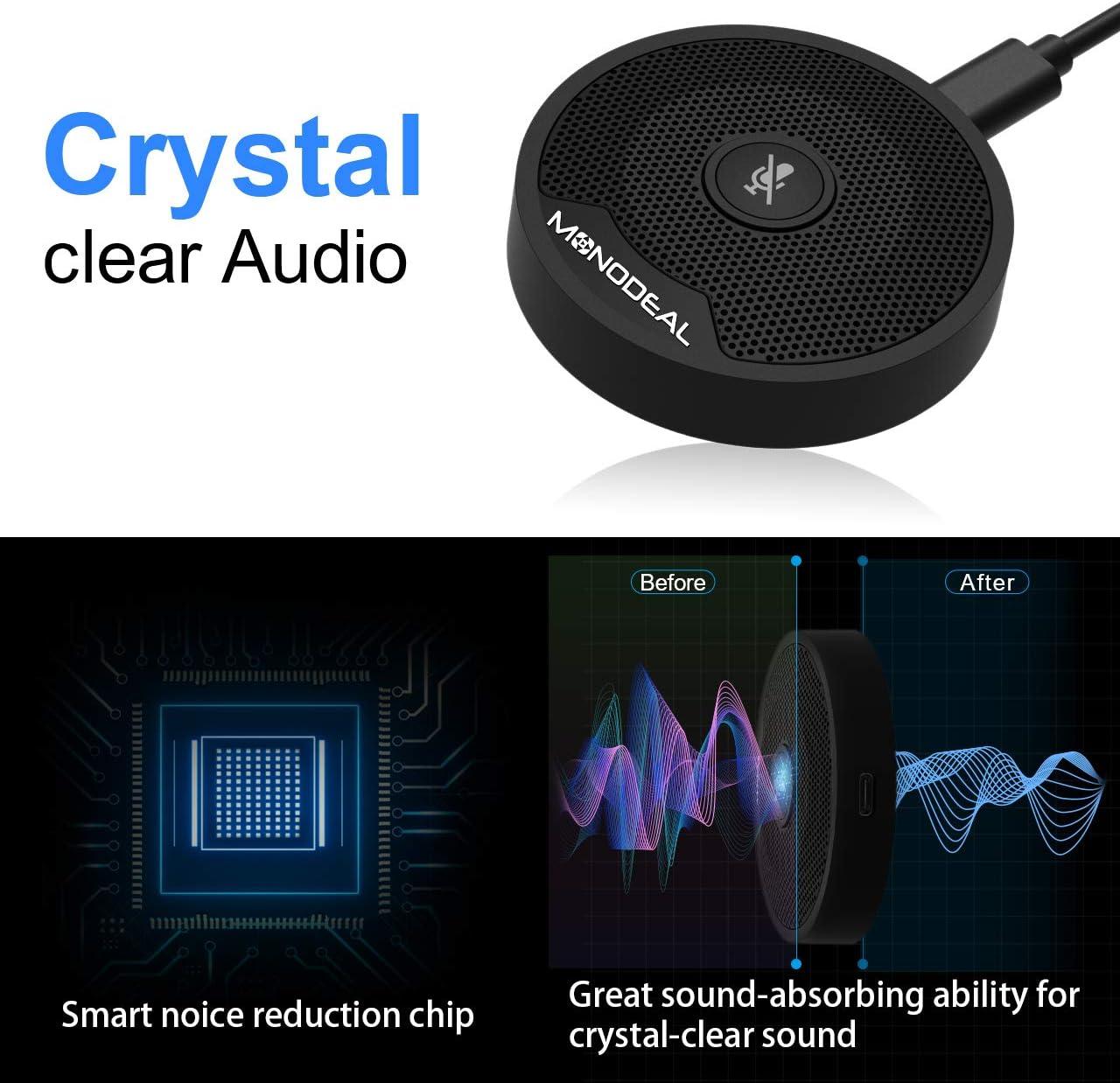 riunioni online registrazione NouveLife per videoconferenze stereo portatile da 3,5 mm tribunale Skype Microfono USB per conferenza con condensatore omnidirezionale per PC