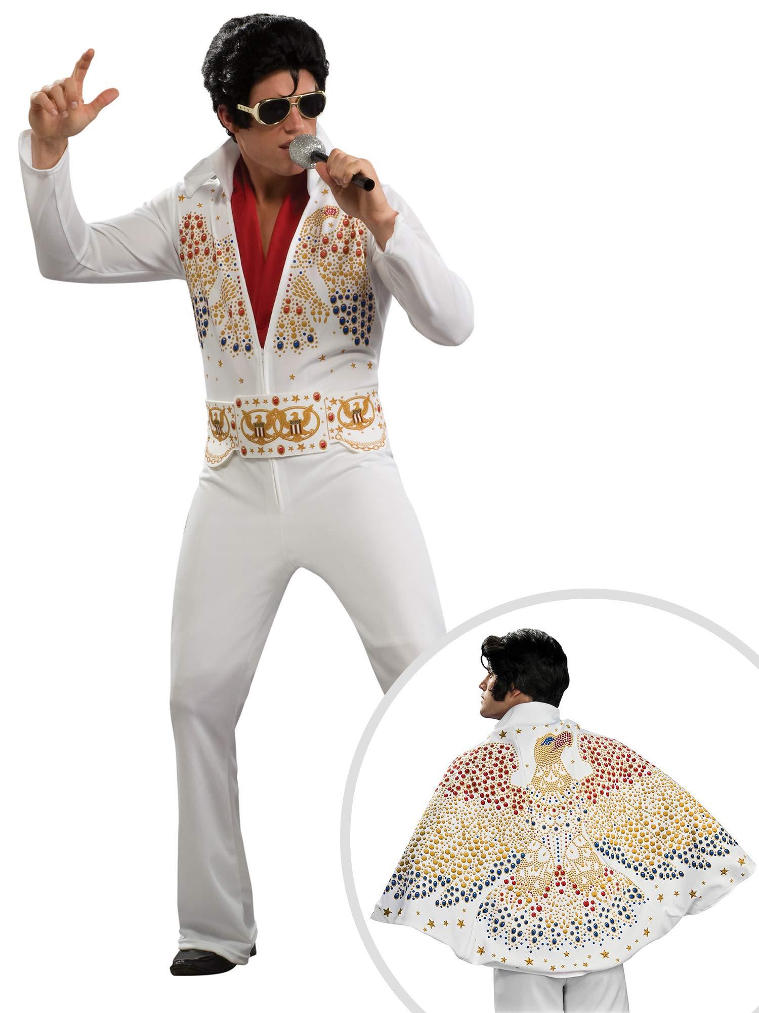 Elvis Costume Kit Adult Large with Cape