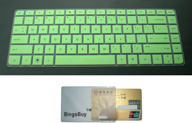 G4 DV4-5 series BingoBuy Semi-Green Ultra Thin Backlit Soft Silicone Keyboard Protector Skin Cover for HP CQ43,CQ57,CQ58 G6-1 series DM4-3 series ENVY Sleekbook 4t-1 se G6T-1 series ENVY 15-3 series G6S-1 series ENVY M4 G6z-1 series DV4-4 series