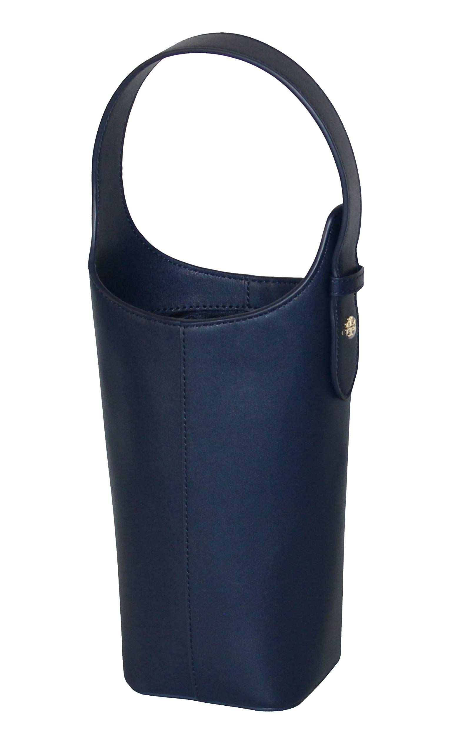 Tory Burch Leather Wine Tote Carrier Navy