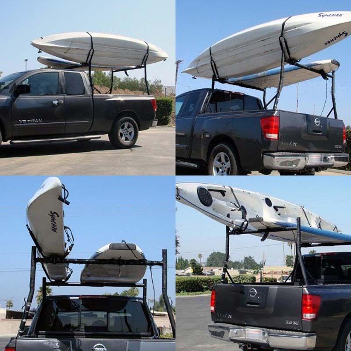 XMT-MOTO J-Bar 2 Pairs Universal Kayak Canoe Top Mount Carrier Roof Rack Boat SUV Van Car