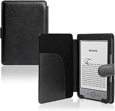 Funda Para eBook Tablet Amazon Kindle 4 Carcasa Negra de Cuero ...