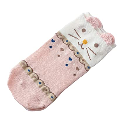 Culturemart Women Socks Cute Cartoon Cat Socks Female Low Cut Ankle Socks Calcetines Mujer Casual Hosiery