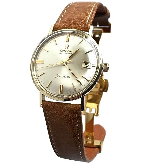 Vintage 1969 Omega Seamaster de Ville reloj con banda de piel de vacuno marrón: Amazon.es: Relojes
