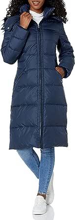 Cole Haan Women's Essential Down Coat with Fur Trim Hood